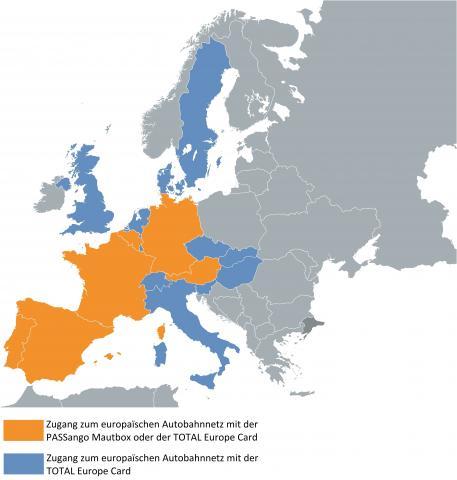 Überschreiten Sie 17 Länder in Europa mit unserer Mautlösung